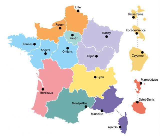 Carte de France CNFPT